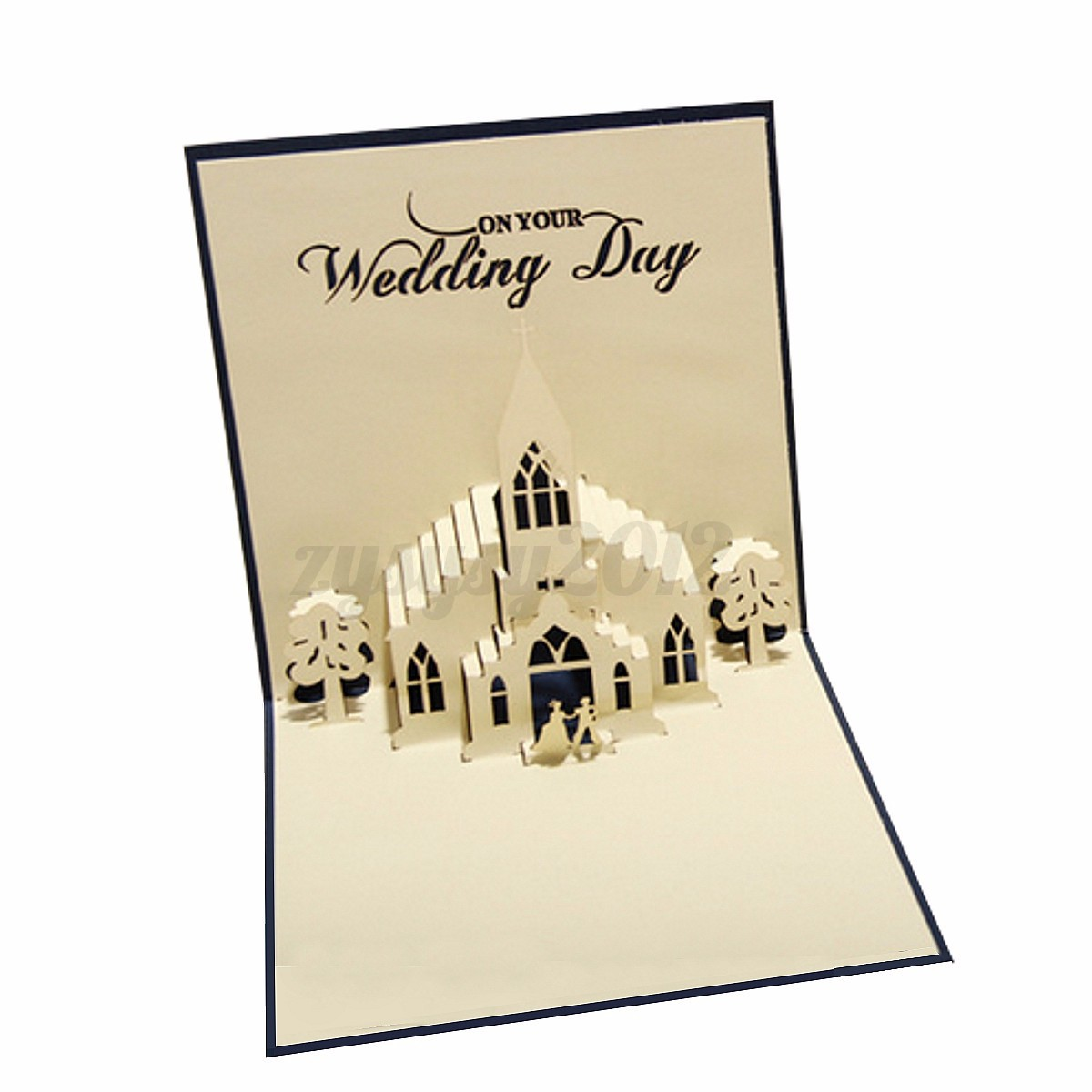 3d pop up greeting cards kirigami happy birthday wedding for Kirigami christmas card