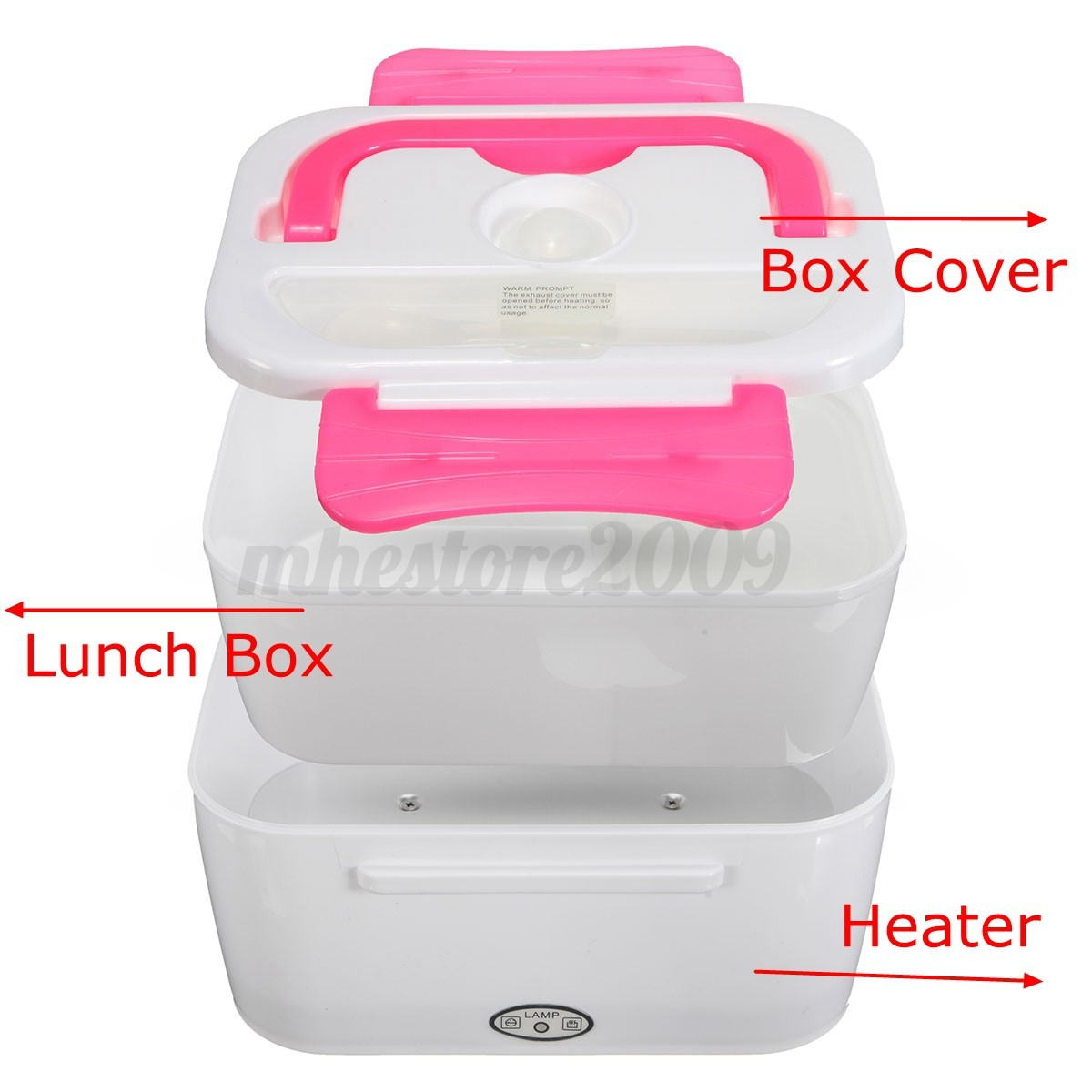 new 220v portable compact electric heated lunch food warmer box bento box 1050ml ebay. Black Bedroom Furniture Sets. Home Design Ideas