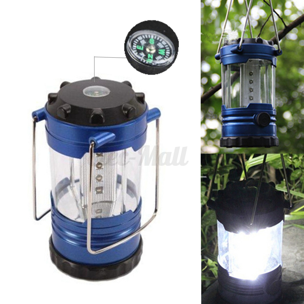 2 In1 Portable 18 LED Super Bright Tent Camp Light W