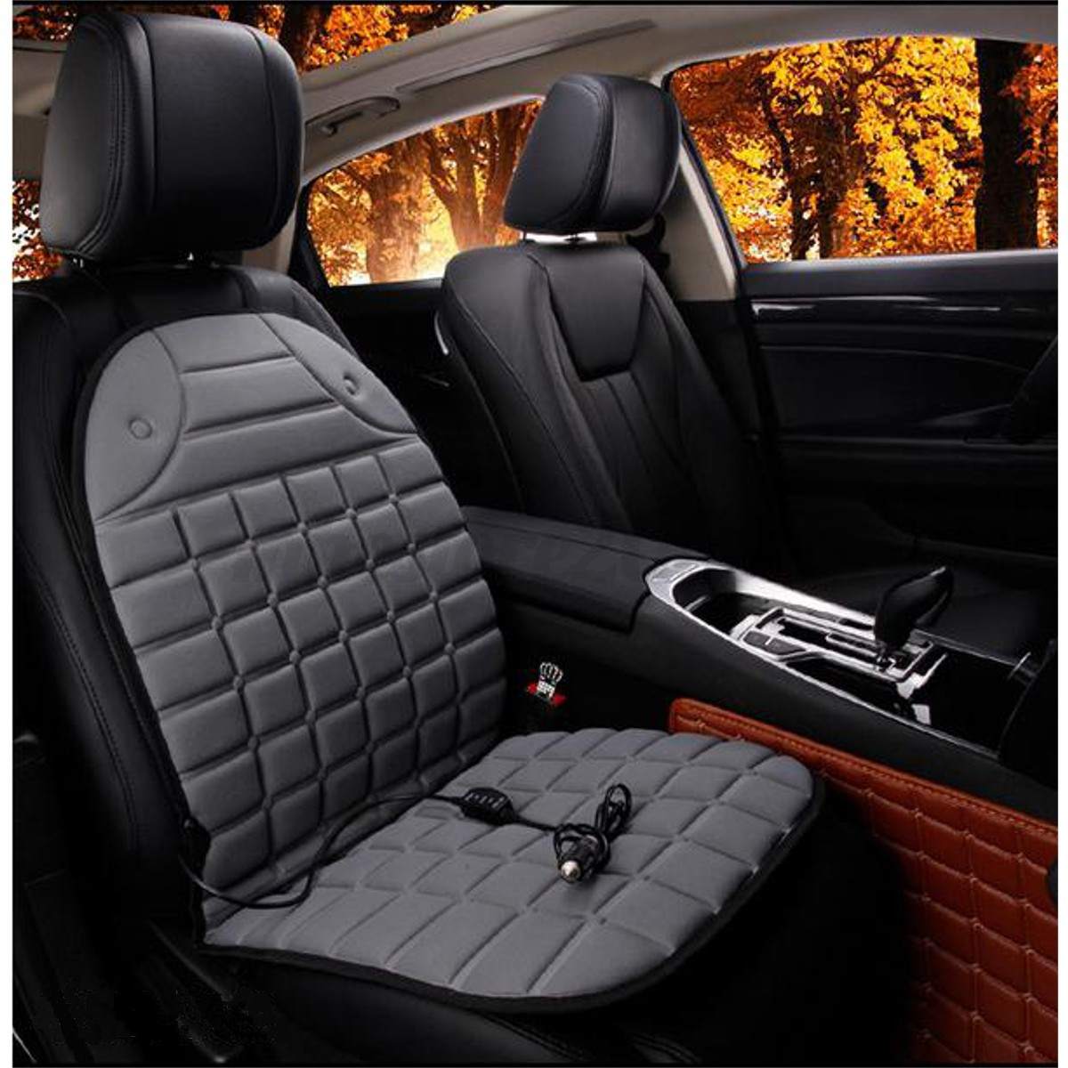 Universal 12V Car Electric Heated Heating Front Seat Cushion Cover Warmer Pad
