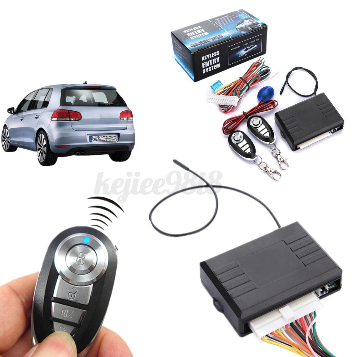 Car remote central kit security door locking vehicle for Keyless entry system