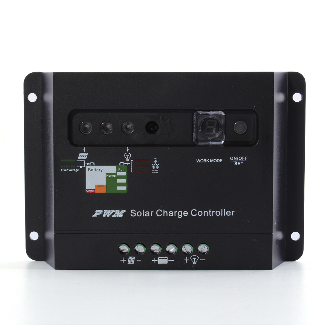 10A/20A/30A PWM Solar Panel Charge Regulator Controller LED 12V 24V Auto Switch