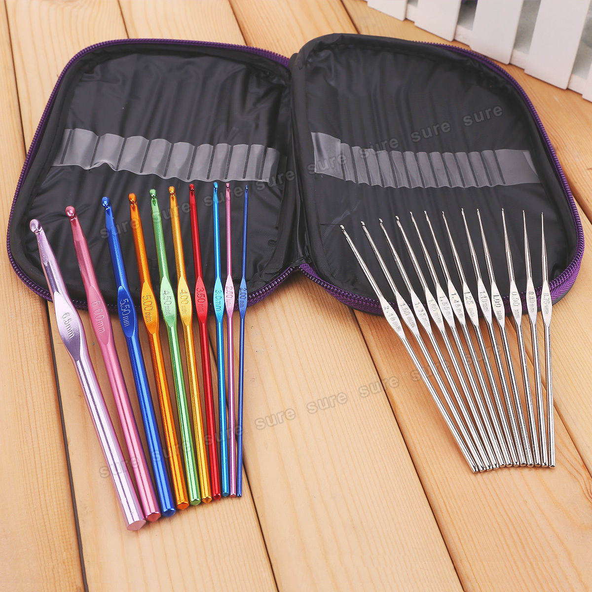 Knitting Hooks : Plastic aluminum handle crochet hook bamboo knitting knit