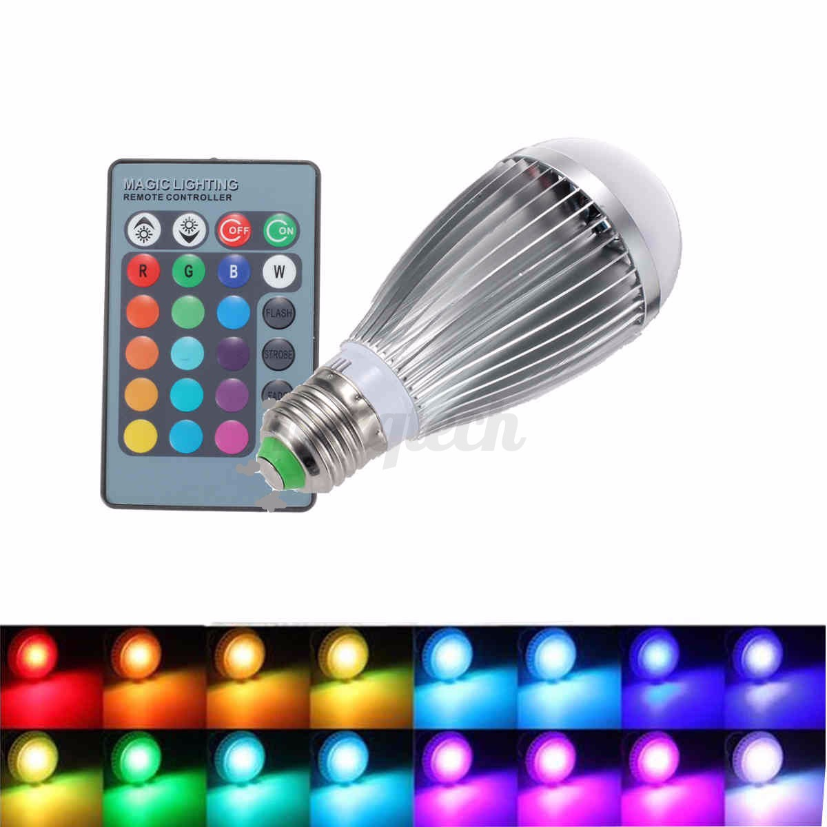 3w 9w 12w Rgb E27 E14 B22 Mr16 Gu10 Led Light Color Changing Lamp Bulb Remote Ebay