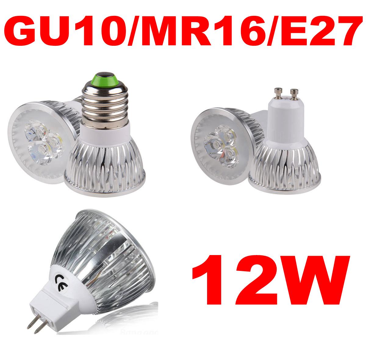 12w power gu10 e27 mr16 led light 3x4w home ceiling spotlight lamp bulb white ebay. Black Bedroom Furniture Sets. Home Design Ideas