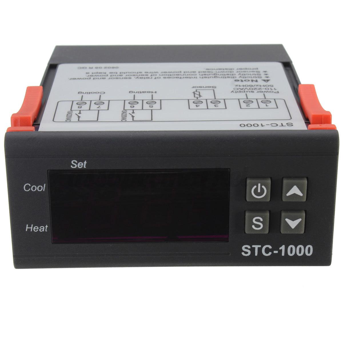 All Purpose Temperature Controller Thermostat with Sensor 220V eBay #B02D1B