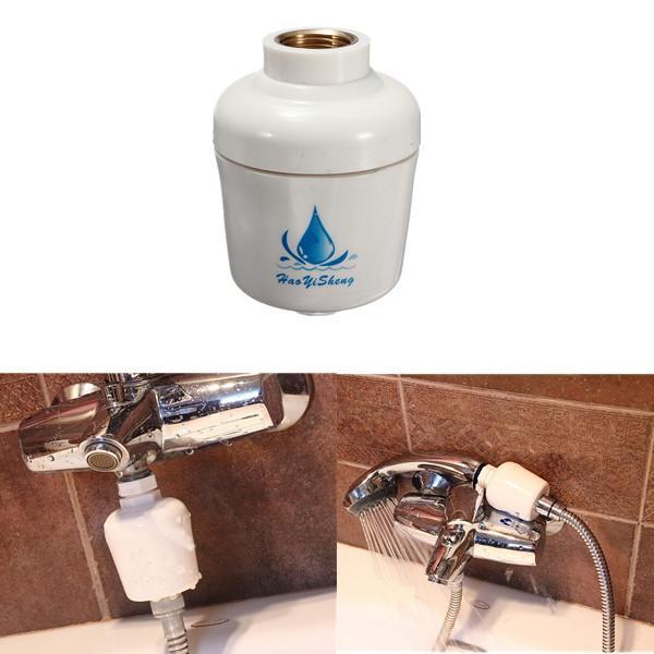 bathroom bath shower head in line filter faucet water softener