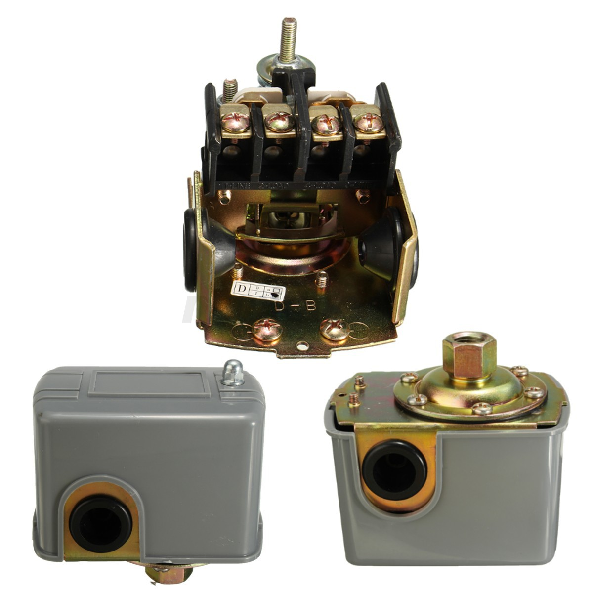 adjustable double spring pole well water pump pressure control switch 40 60 psi ebay. Black Bedroom Furniture Sets. Home Design Ideas