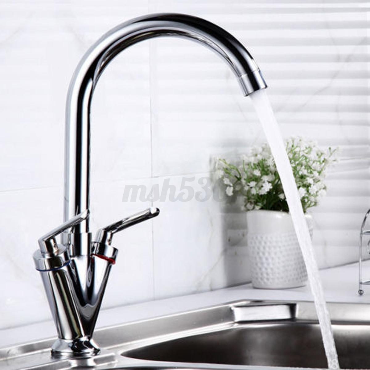Modern Chrome Brass Kitchen Faucet Swivel Spout Single Handle Sink Mixer Tap Ebay