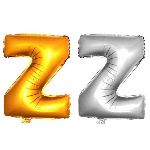 Ballon lettres gonflables mariage f te aluminium d coration 101cm or argent - Decoration mariage ballon ...