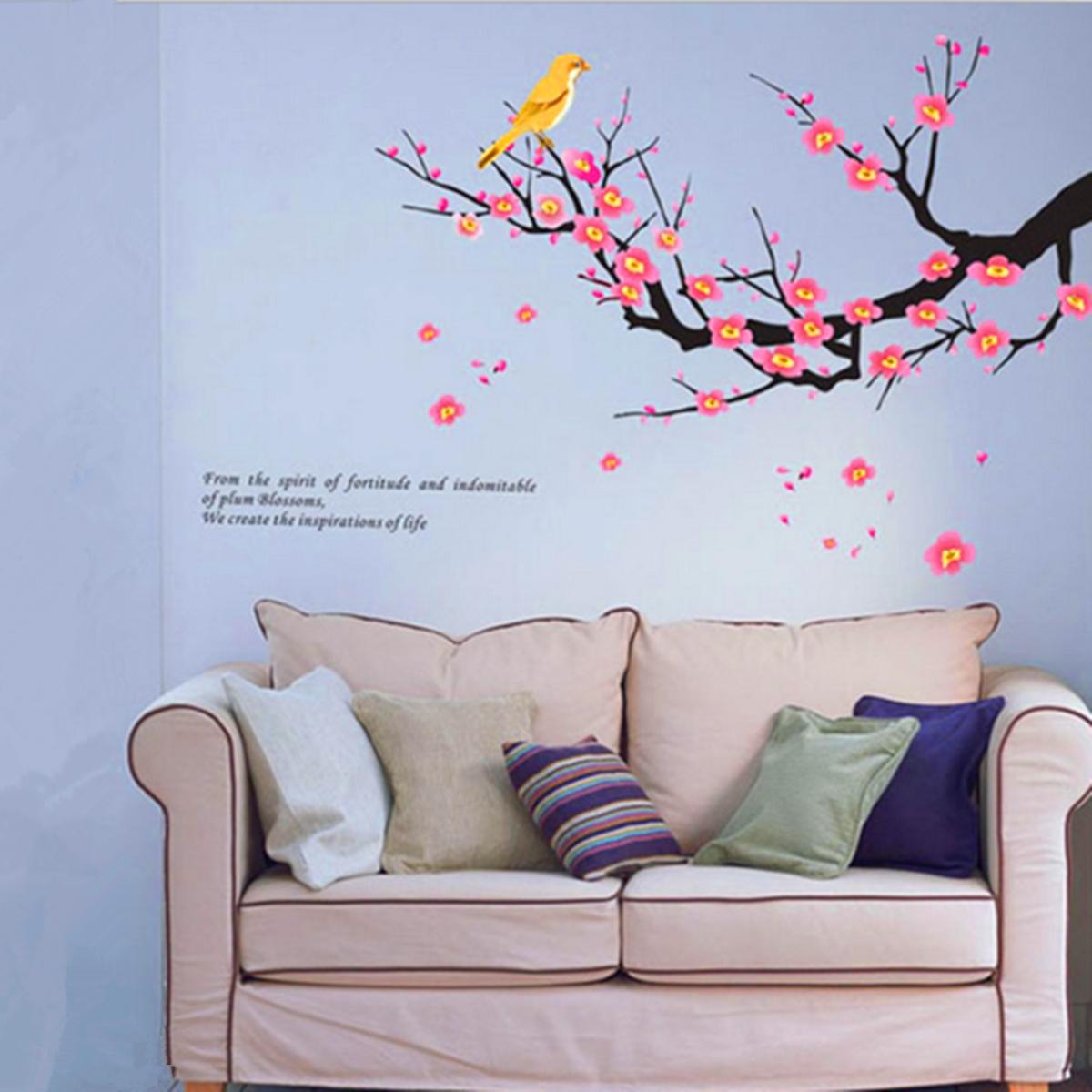 Dessin animal arbre sticker mural autocollant amovible for Autocollant mural arbre