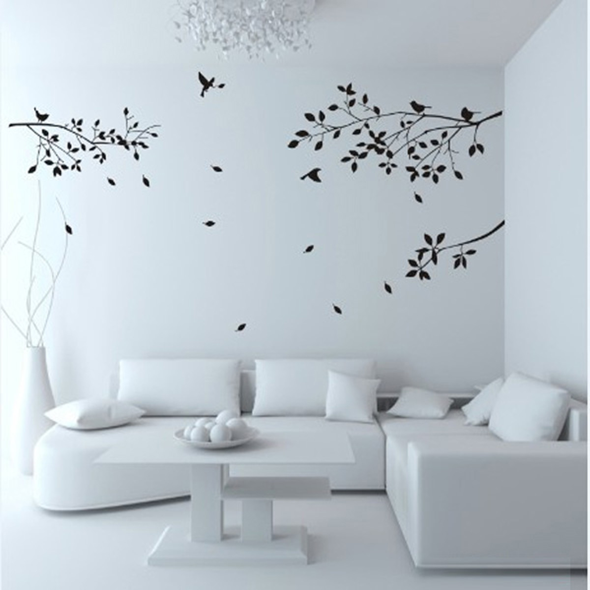 sticker autocollant mural papillon fleur arbre letter diy mur chambre salon d co ebay. Black Bedroom Furniture Sets. Home Design Ideas