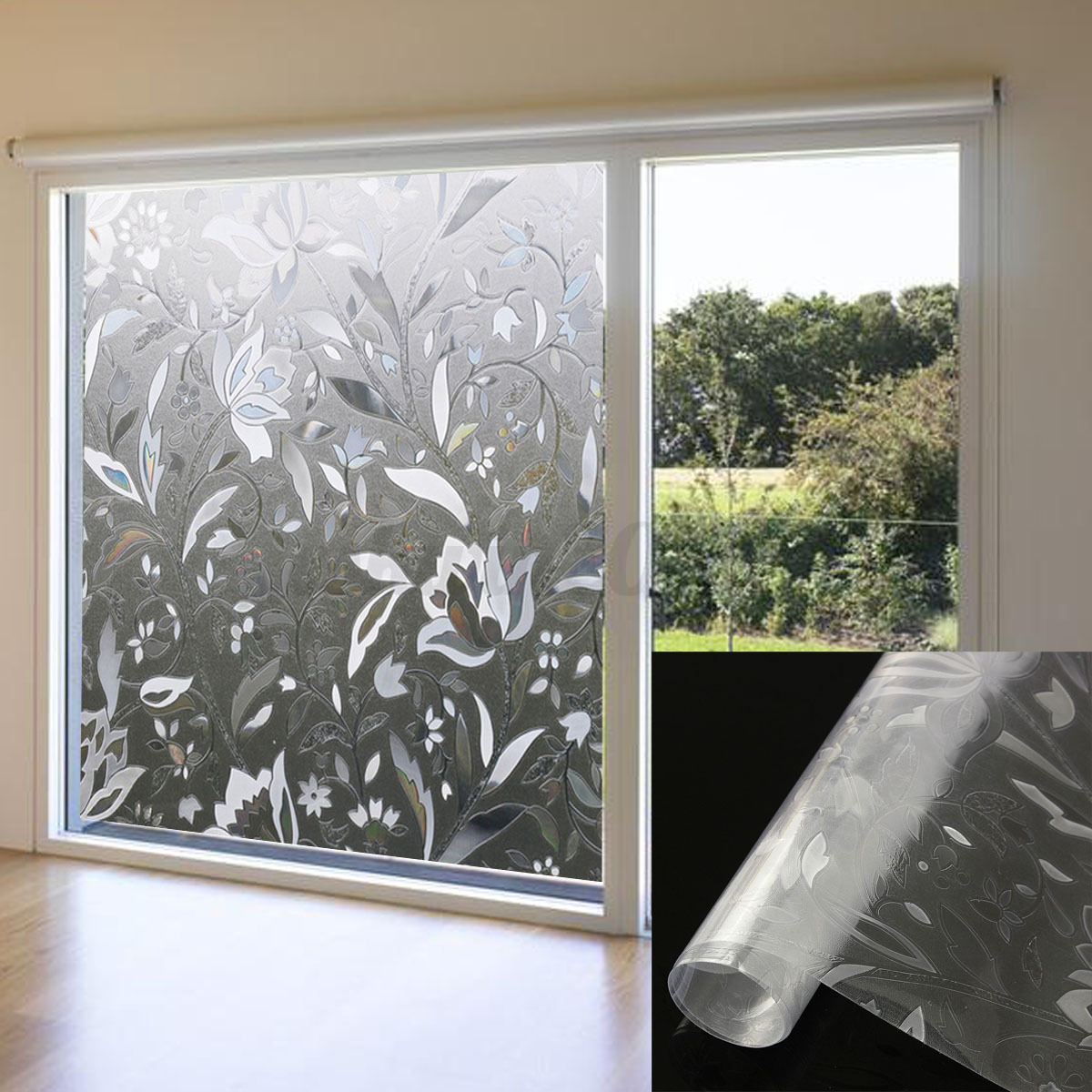 45x100cm recyclable frosted glass home window film 3d. Black Bedroom Furniture Sets. Home Design Ideas