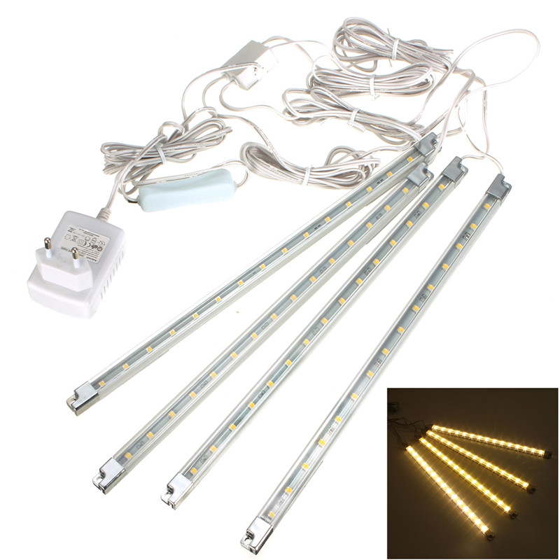 4x 15 LED Kitchen Under Cabinet Counter Light Lamp Bar Kit ...