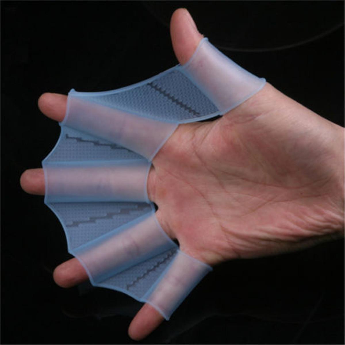 Paire de doigt gants palme palm e pour nager piscine main for Palme de piscine