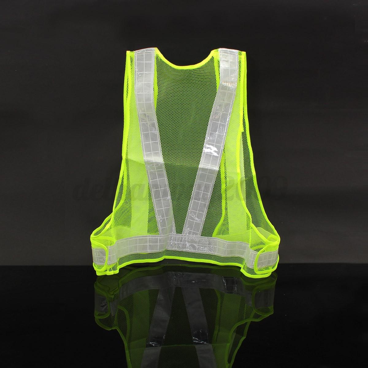 Hi Vis High Viz Visibility Waistcoat Safety Vest Jacket
