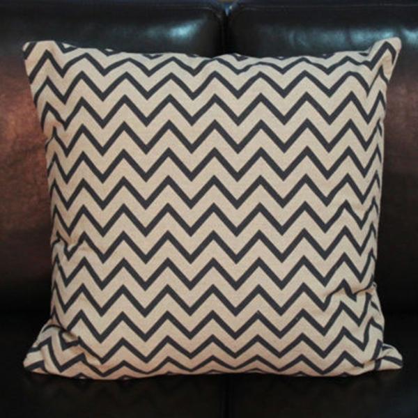 Vintage Black White Cotton Linen Cushions Cover Throw Pillow Case Home Decor