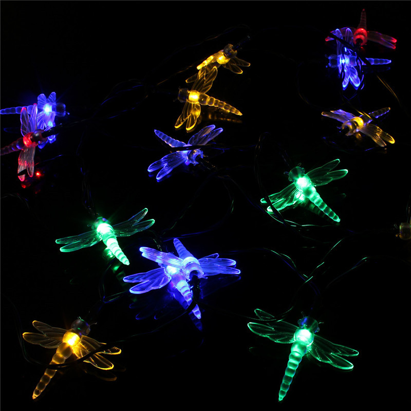 Philips Led String Lights Dragonfly : Set of 20 Solar String Dragonfly Garden Lights LED Fairy Lanterns Christmas NEW eBay