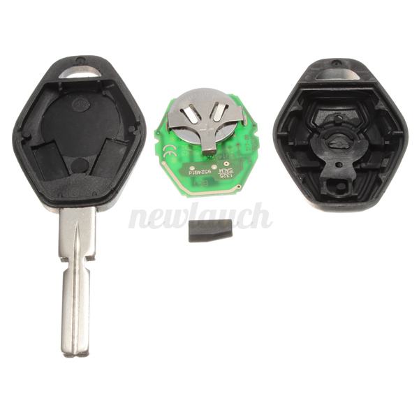 433MHZ Remote Key Fob TRANSPONDER CHIP+Blade For BMW E46