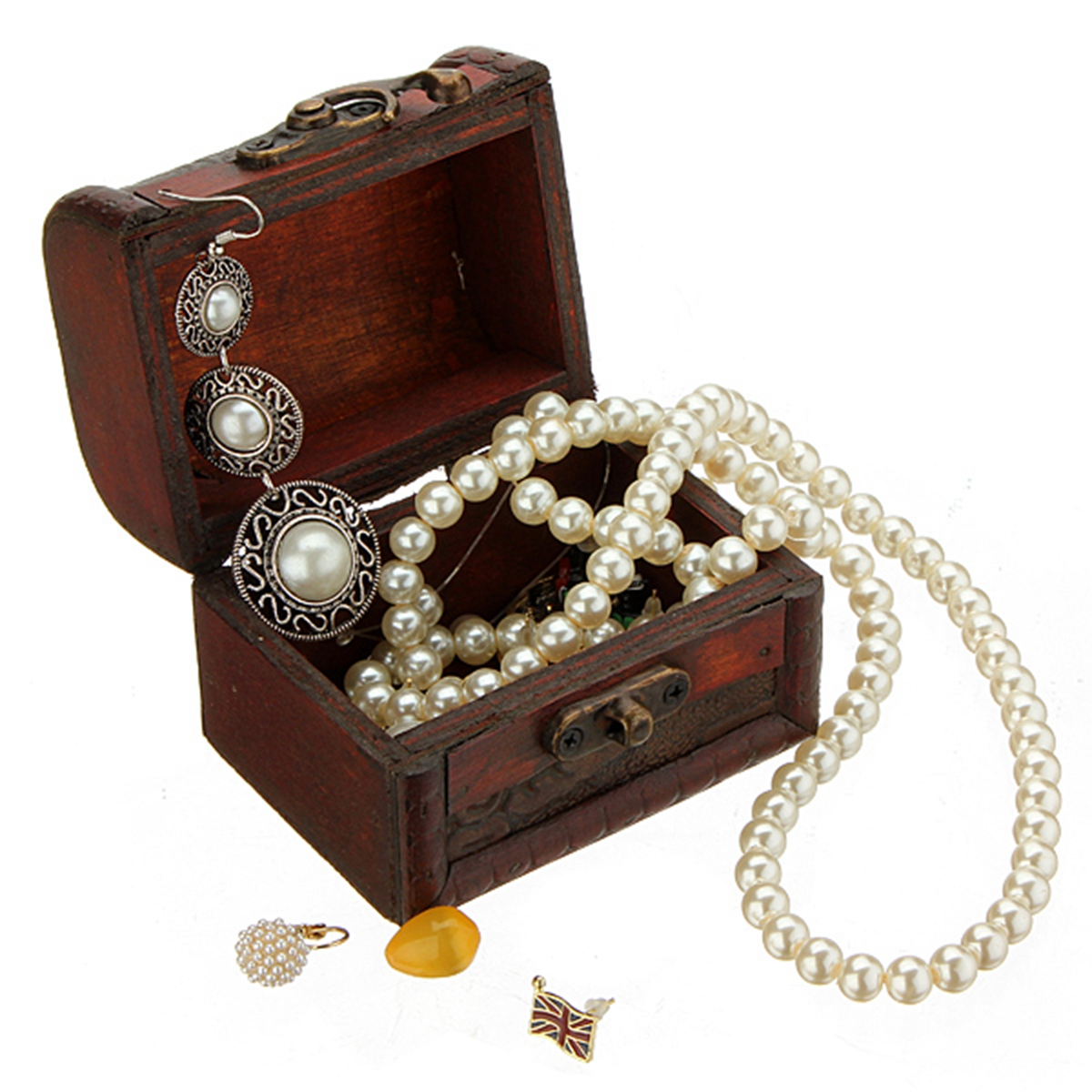 uk vintage jewelry pearl necklace bracelet gift box