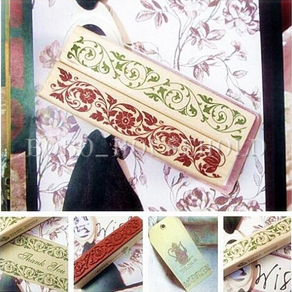 Sello De Goma Tampón Estampa Tinta Caja Madera Número Letra Floral Mucho Estilo