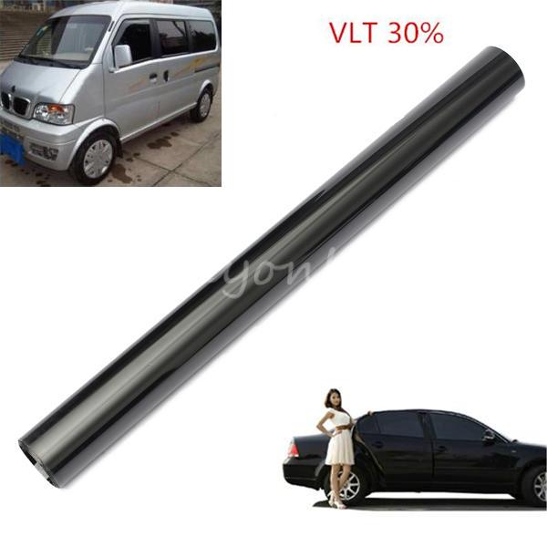 6m 50cm film teinte solaire noir autocollant vitre fen tre voiture batiment 30 ebay. Black Bedroom Furniture Sets. Home Design Ideas