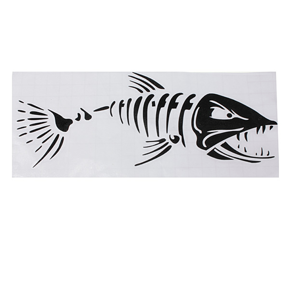 Car boat window skeleton angry shark mad fish fishing for Fishing boat decals