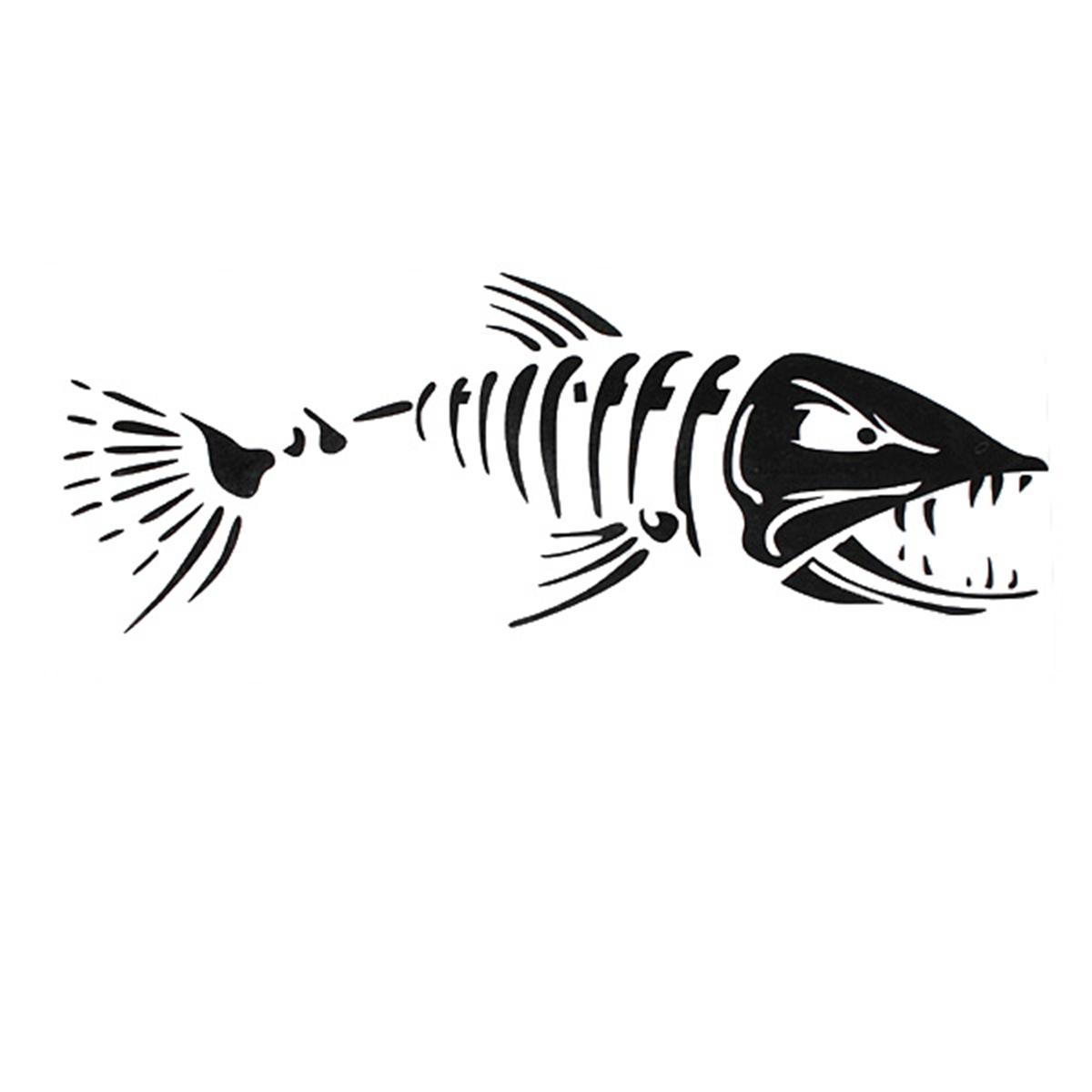 Car Boat Window Skeleton Angry Shark Mad Fish Fishing