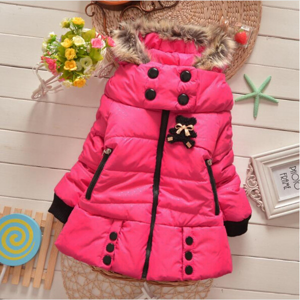 New Baby Thick Kids Girls Winter Warm Hoodies Coat Children Outwear Girls Jacket