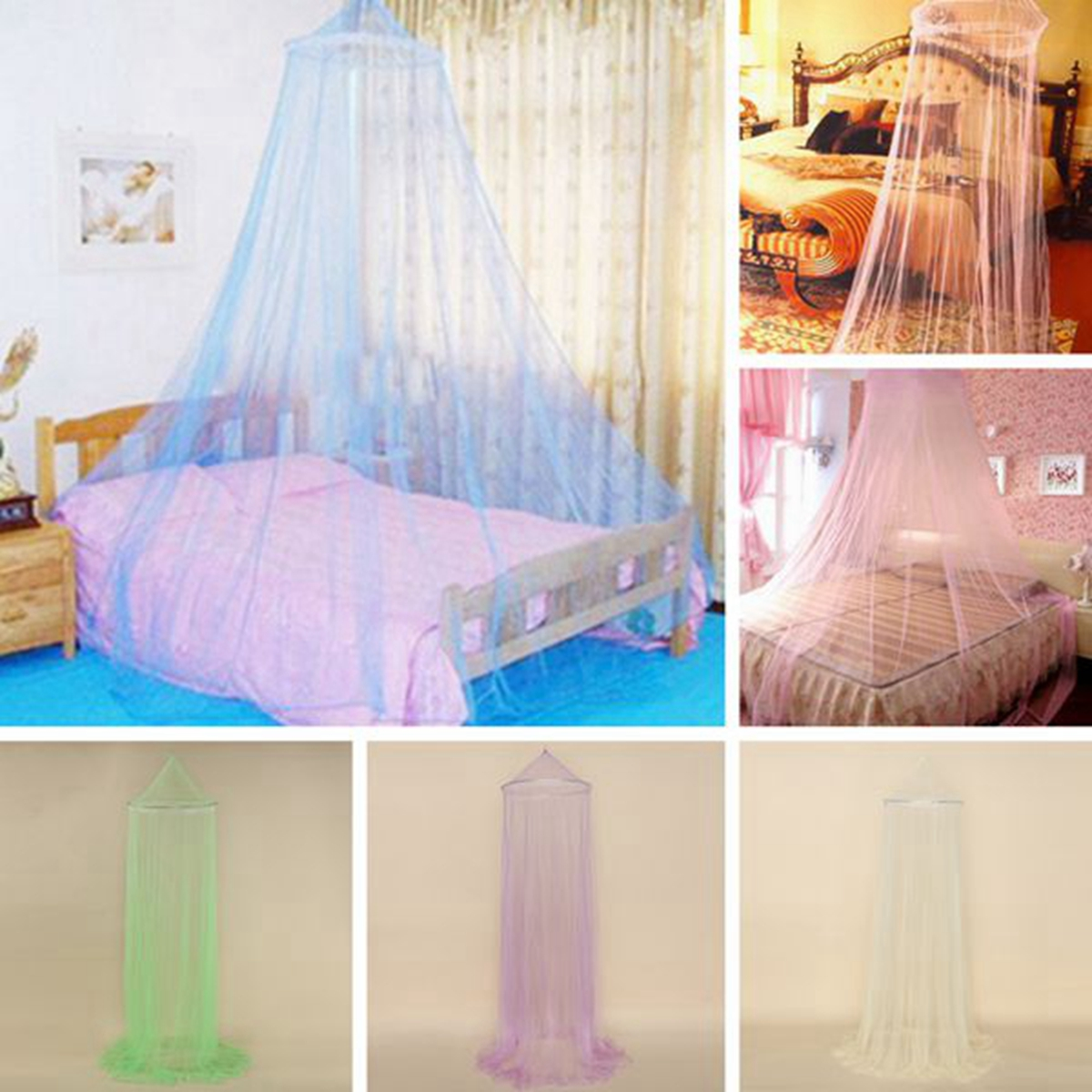 uk crochet net ciel lit mousseline moustiquaire baldaquin voile arceau dentelle ebay. Black Bedroom Furniture Sets. Home Design Ideas