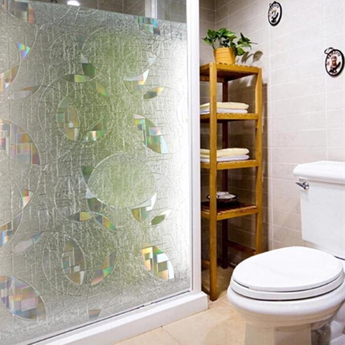 3D Glas Aufkleber Fenster Folie Milchglasfolie Dusche