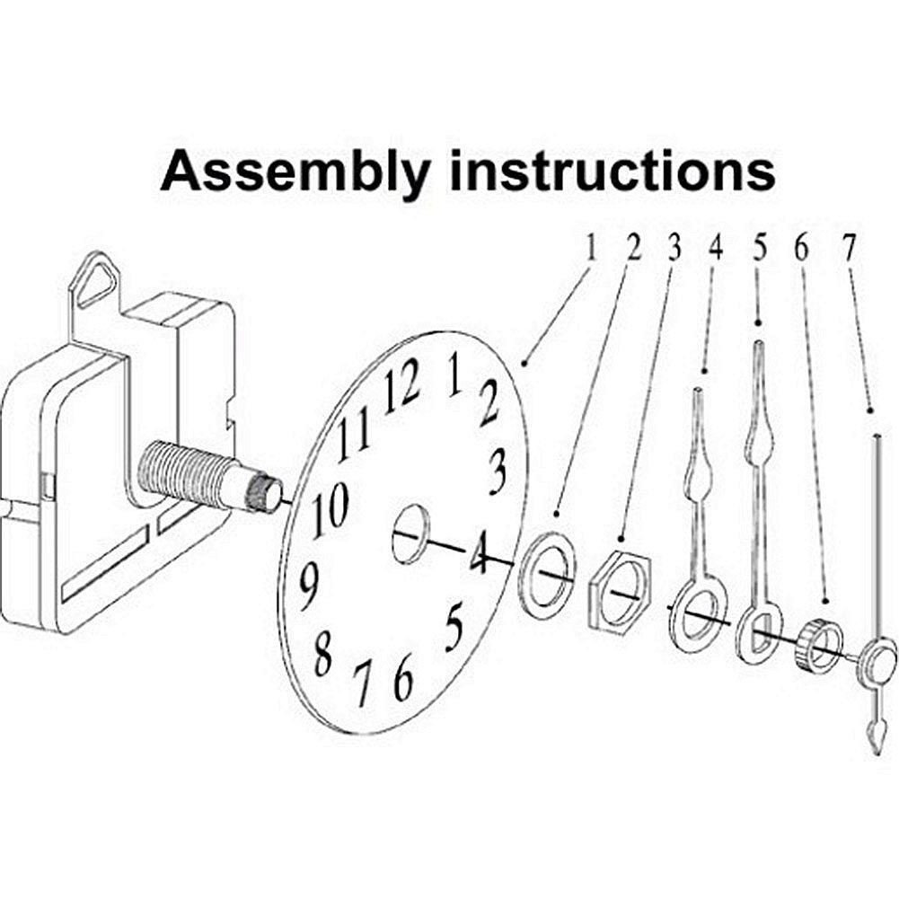 Quartz Clock Diagram - Quartz Clock Movement Parts Diagram ...