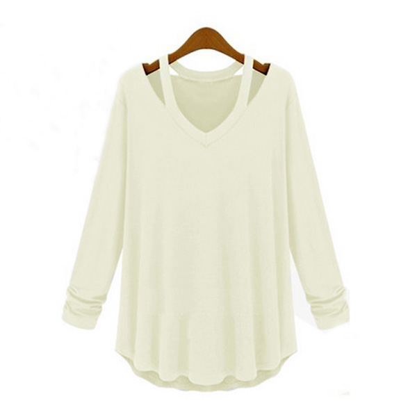 Zanzea Ladies Off Shoulder Long Sleeve Loose Casual Blouse Tee Pullover 3 Colors