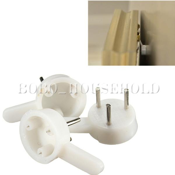 50x plastic hard wall hooks picture frame photos mirror for Small hanging mirror