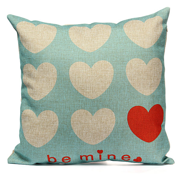 Love Couple Series Throw Cotton Linen Pillow Case Cushion Cover Home Decor Gifts