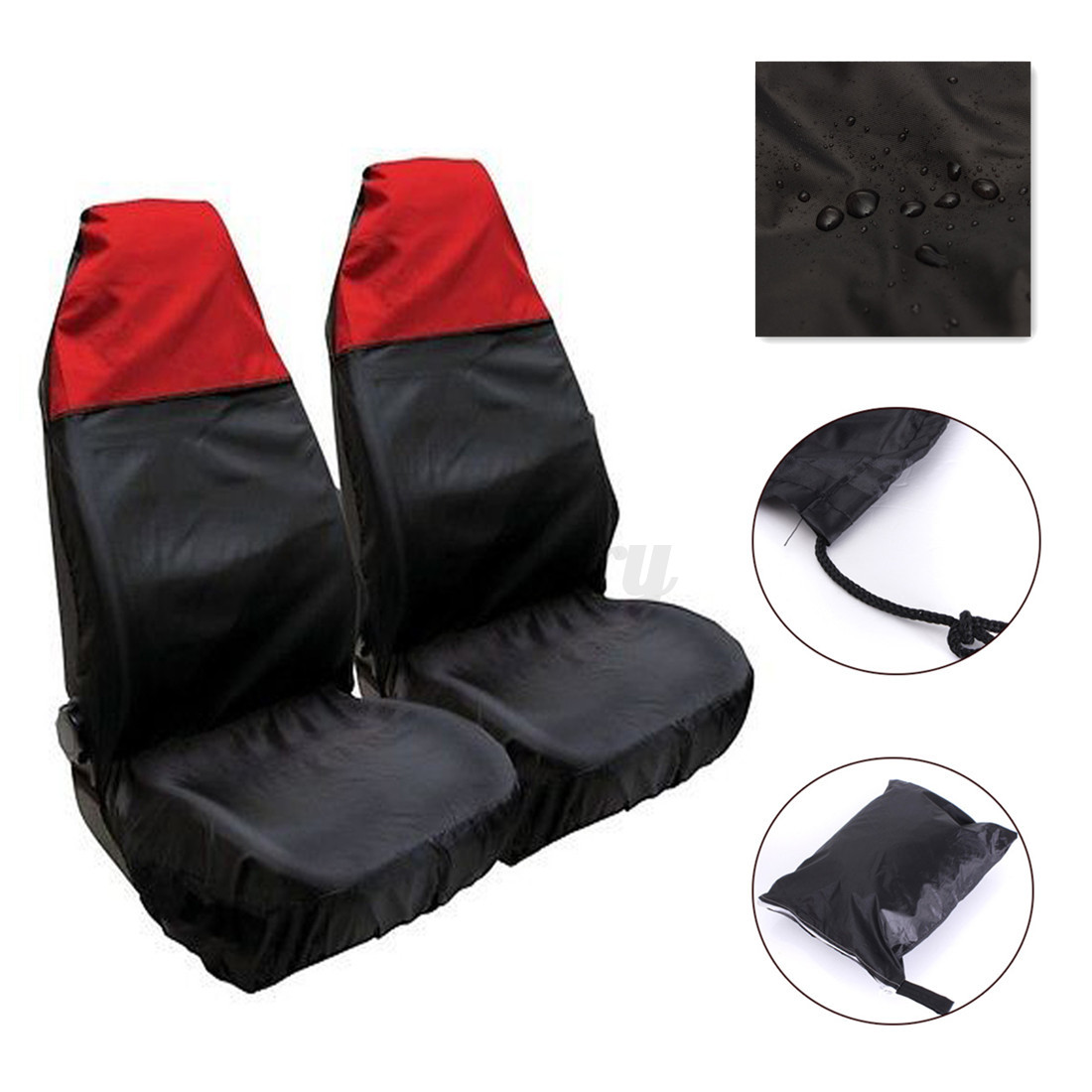 2x Universal Front Car Seat Protector Cover Waterproof