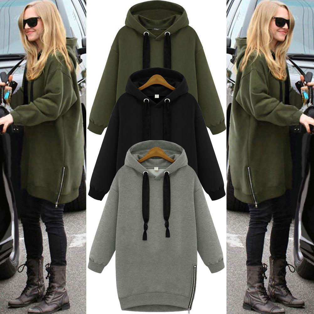 UK Unisex Oversized Hoodie Baggy Jumper Hooded Sweater Sweatshirt ...