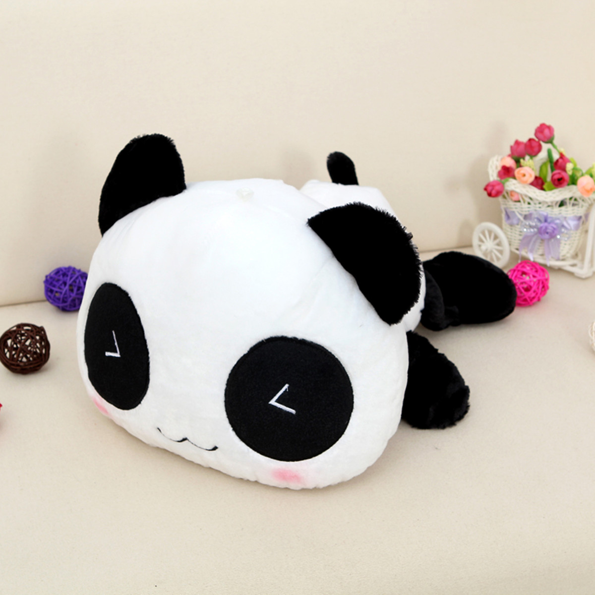 Stuffed Plush Doll Toy Animal Cute Panda Pillow Bolster Gift 25/35/45/55/70cm eBay