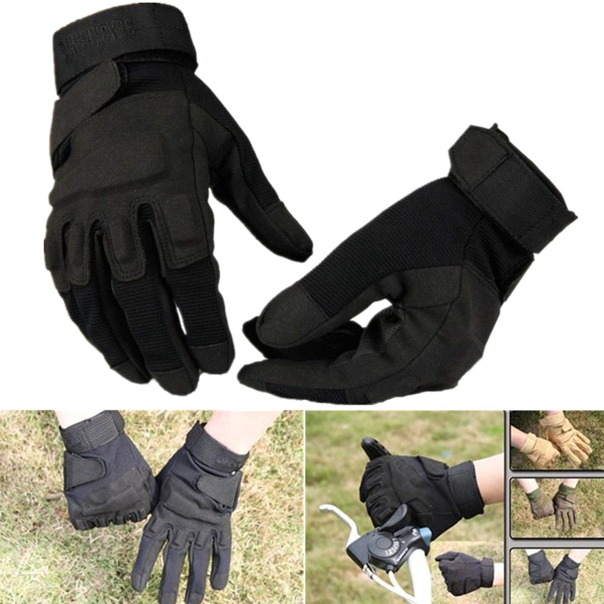 Workout Gloves Full Finger: Full Finger Weight Lifting Training Military Army Tactical
