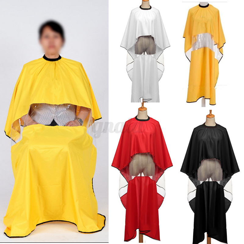 Pro-Salon-Barber-Hair-Cutting-Gown-Cape-Hairdresser-Apron-With-Viewing ...
