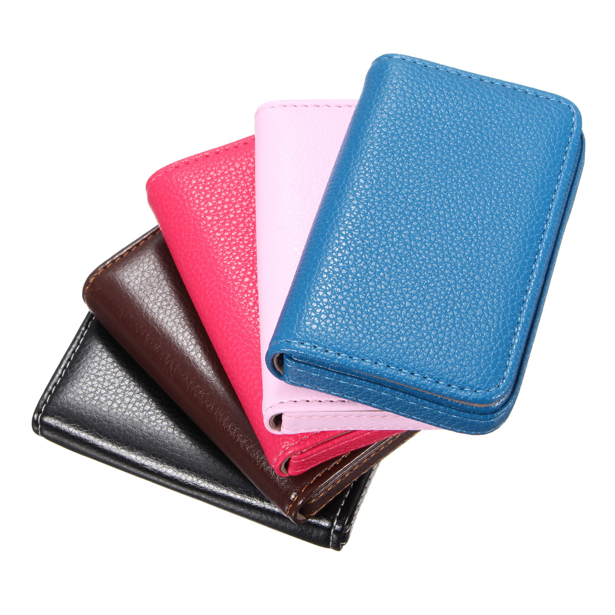 new pocket leather business credit id card holder wallet