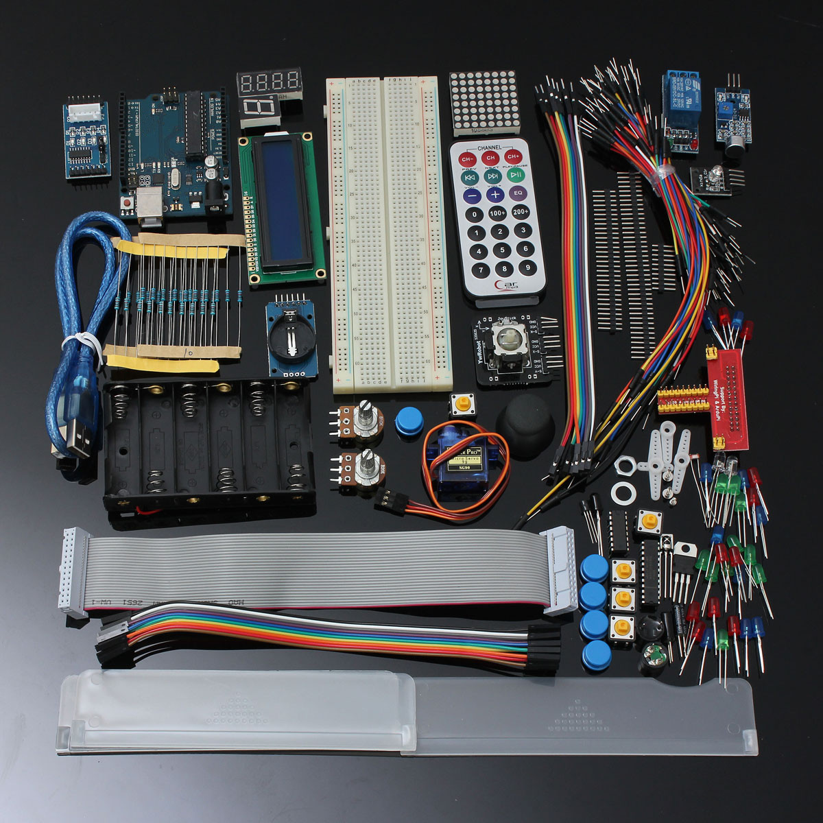 Ultimate starter kit for arduino uno r lcd servo