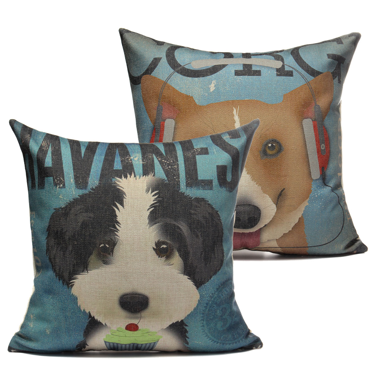 Ornate Animal Pillow Cover Giveaway : Cushion Cover Dog Animal Throw Sofa Pillow Case Home Decor Cotton Decorative eBay
