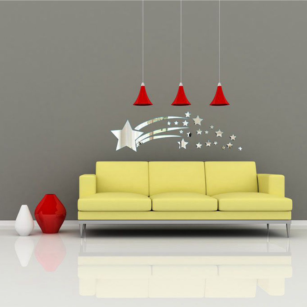 Old Fashioned Star Mirror Wall Decor Composition - All About Wallart ...