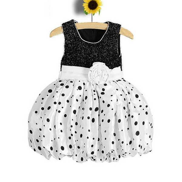 Baby Kinder Mädchen Ballonkleid Prinzessin Polka Dot Hochzeits Party ...