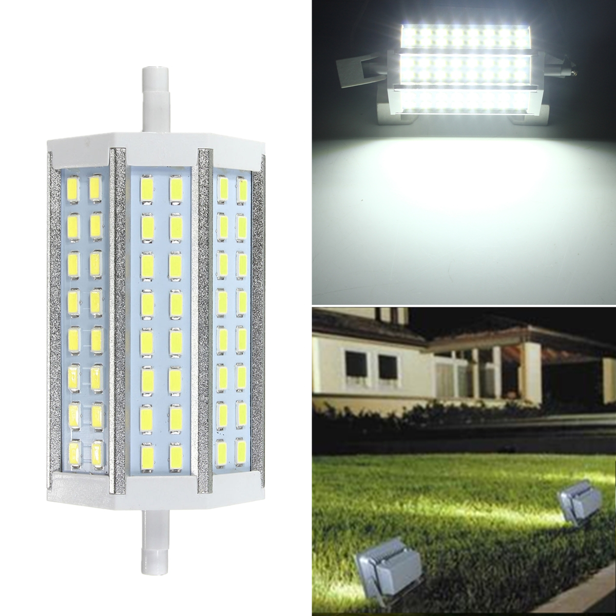 r7s 118mm 15w 48 smd 5730 led lampe strahler stab fluter. Black Bedroom Furniture Sets. Home Design Ideas