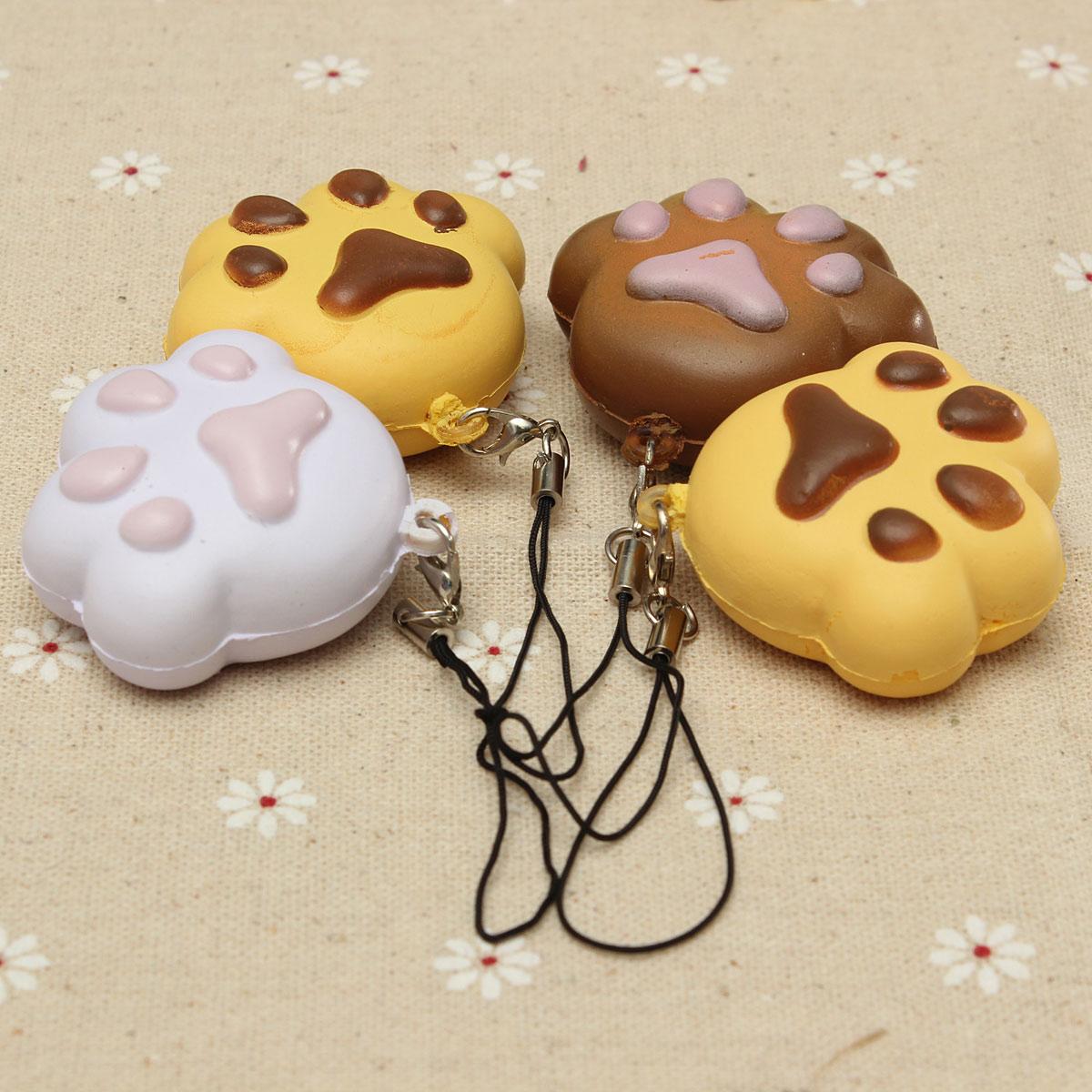 Squishy Cat Stick On Phone : Kawaii Claw Puppy Dog Cat Footprint Squishy Bread Keychain Bag Phone Charm Strap eBay