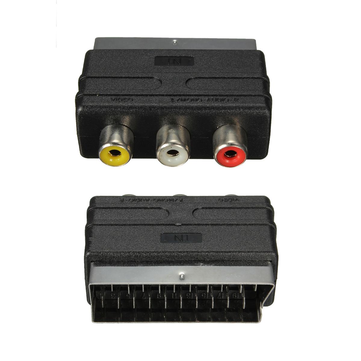 audio video av adapter cinch kabel hdmi stecker auf 3 rca f r hdtv 1080p ebay. Black Bedroom Furniture Sets. Home Design Ideas