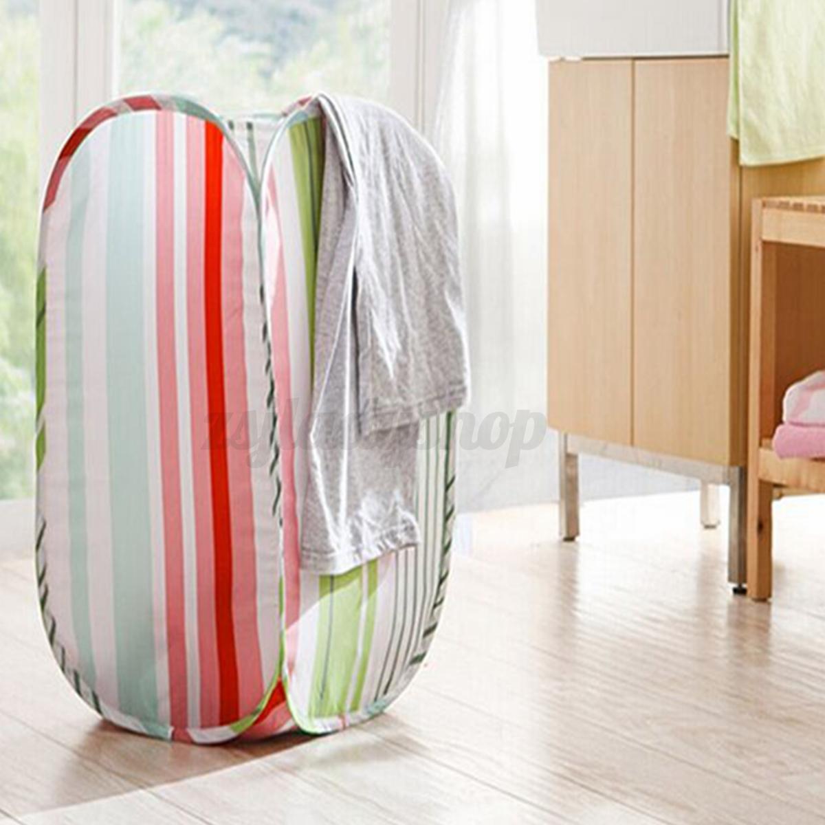 New Foldable Pop Up Washing Clothes Laundry Bag Basket Bin Hamper Mesh Storage Ebay