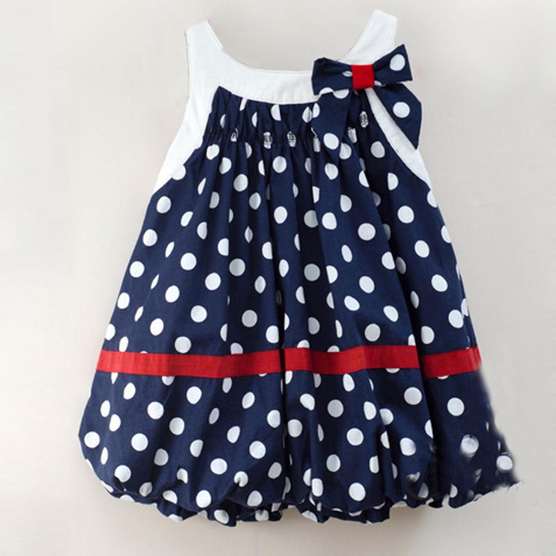 mode neu baby kinder m dchen kleidung sommer rmellos polka dot tutu kleid rock ebay. Black Bedroom Furniture Sets. Home Design Ideas